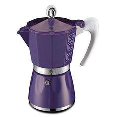 GAT Bella 6 Cup Stove Top Traditional Italian Espresso Coffee Maker Pot in Purple