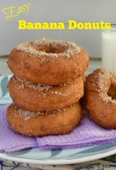 How to make your own easy Banana Donuts ~ perfect recipe for Donut making beginners and it never fails ~ soft inside, crispy outside