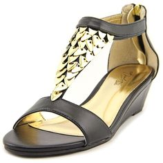 Thalia Sodi Anitah Demi Wedge Sandals - Black >>> Want to know more, click on the image.