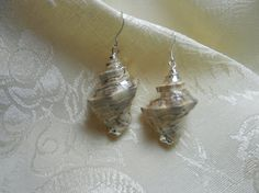 Silver Plated Shells with Sterling Silver Wires by TheSaltyShell, $20.00