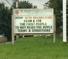 Adam & Eve - The First People To Not Read The Apple Terms & Conditions