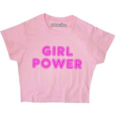 Girl Power Crop Top Spice Neon Retro Hot Pink Grunge 90s Britpop Black... (155 NOK) ❤ liked on Polyvore featuring tops, t-shirts, shirts, loose fitting t shirts, graphic tees, grunge t shirts, long-sleeve crop tops and black and white checkered shirt