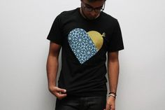 Heart-shaped graphic with design influence from Eastern Islamic architecture 100% ring spun cotton unisex fit