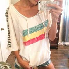 Billabong Rasta Pullover Size M, NWT, little tie in back Billabong Tops Sweatshirts & Hoodies