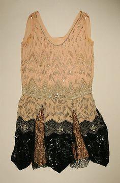 Evening dress Date: ca. 1926 Culture: French Medium: silk, beads Accession Number: C.I.40.165.2a, b