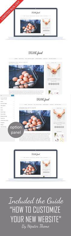 80% Organic Food -Wordpress Recipe. WordPress Blog Themes