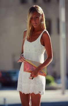 style lover abercrombie white dress I