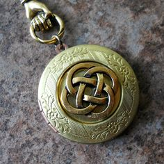 Irish Ceic Knot Vintage Locket Brass Celtic Locket Brass
