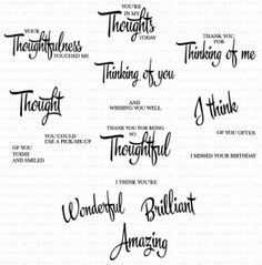 PTI ~ It's the Thought Stamp Set $15