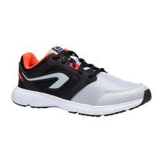 66996ba37 Chaussures athlétisme enfant run support lace noir gris rouge kalenji
