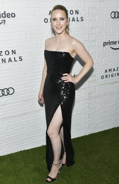 Rachel Brosnahan at the Emmys Afterparty on September 22 2019 Celebrity Dresses, Celebrity Style, Rachel Brosnahan, The Emmys, Strapless Dress Formal, Formal Dresses, Amazon Prime Video, Party Looks, Black Sequins