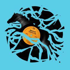 "(""Disc Jockey"", by Enkel Dika) Art Print / MINI (8"" x 8"") $18  #horse #music"