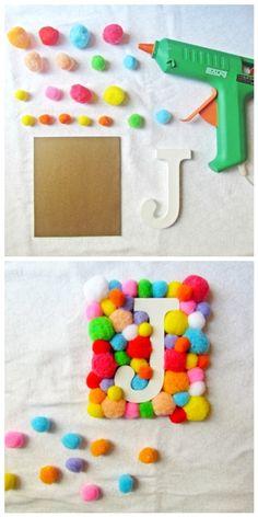 DIY - Decoración - Letras de madera  DIY - Decoration - Wooden letters  www.baladrecraftingcreativity.wordpress.com