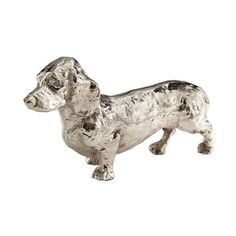 Cyan Design Crusoe Sculpture Crusoe 4.5 Inch High Brass Figurine Made ($143) ❤ liked on Polyvore featuring home, home decor, accents, antique silver finish, statues & figurines, brass figurines, brass sculptures, brass figure, cyan design and brass statues