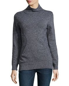Cashmere Marbled Sweater, Black  by Todd and Duncan at Neiman Marcus Last Call.