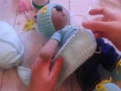 вязание курточки для тильды часть 1 - YouTube