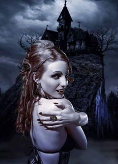 Visit Dark Art Designs on SoundCloud Vampire Love, Female Vampire, Gothic Vampire, Vampire Books, Vampire Girls, Vampire Art, Dark Gothic, Gothic Art, Gothic Girls