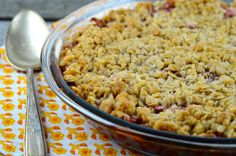 Rhubarb Crisp - made 6/20/15 - good! Upped the oatmeal to 3/4 cup, nice crunch