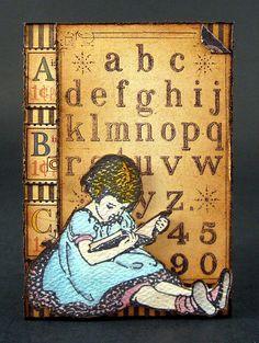 A Very Vintage Child ATC