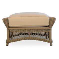 Lloyd Flanders Fairhope Ottoman with Cushion Fabric: Canvas Tuscan, Sunbrella
