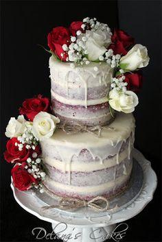 48 Ideas for wedding cakes red velvet Wedding Cake Rustic, Rustic Cake, Cake Wedding, Red Wedding, Red Velvet Cake Decoration, Red Velvet Wedding Cake, Christmas Wedding Cakes, Naked Cakes, Wedding Cake Inspiration