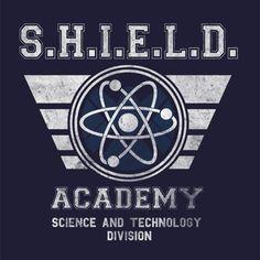 Shield Academy T-Shirt - The Shirt List