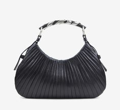 Yves Saint Laurent Black And Silver Handbag