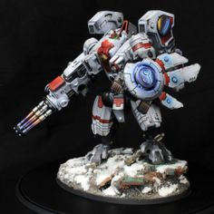 Warhammer-40k-Tau-Empire-Army-2000-points-Forgeworld-model-pro-painted
