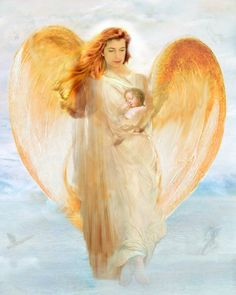 Guardian Angel Hold A Baby Angel Graphic - Images, Photos, Pictures Angel Protector, Entertaining Angels, I Believe In Angels, My Guardian Angel, Les Religions, Angel Pictures, Angel Images, Pictures Images, Photos