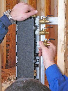 attach PEX ball valves to manifold
