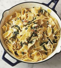 Just wanted to share this delicious recipe from Lidia Bastianich with you - Buon Gusto! MAFALDE FLORENTINE STYLE