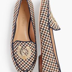 New Equestrian Pieces from Talbots - STABLE STYLE - Plaid loafers with equestrian style Source by stablestyle - Equestrian Boots, Equestrian Outfits, Equestrian Style, Equestrian Fashion, Leather Drawstring Bags, Equestrian Collections, Navy Shop, Sock Shop, Classic Style Women