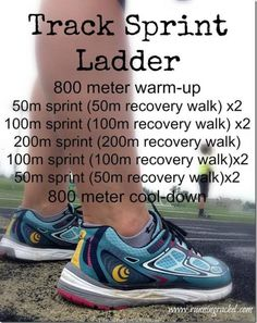 track sprint ladder workout