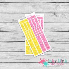 New to InkyDinkPrinting on Etsy: Lemonade Sticker Washi Tape Half Sheet Planner Stickers Erin Condren Happy Planner Sticker Sampler EC Life Planner Limelife WS-01 (2.50 USD)