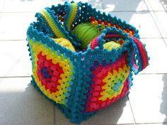 Tas gemaakt van granny,s leuk idee