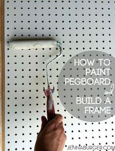 The best DIY projects & DIY ideas and tutorials: sewing, paper craft, DIY. Diy Crafts Ideas DIY: How-To Paint Pegboard + Build and Install a Frame Surround. Pegboard is an organizational dream fit for every room in the house. Pegboard Craft Room, Painted Pegboard, Sewing Room Organization, Craft Room Storage, Kitchen Pegboard, Craft Rooms, Tool Storage, Pegboard Display, Pegboard Garage