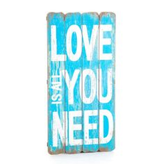 Obraz / tablica Aluro - Mazine - Love Is All You Need Love Is All, Home Decor, Nautical, Poster, Navy Marine, Decoration Home, Room Decor, Nautical Style, Interior Decorating