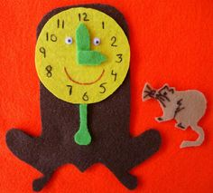 Inspiration - Hickory Dickory Dock Felt could combine clock face with mouse running up clock.