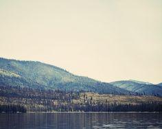 Warm Lake - 8 x 10 Fine Art Photograph - nostalgic landscape mountain outdoors unisex home decor print