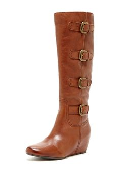 Franco Sarto Imply Buckle Wedge Boot
