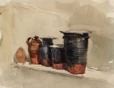 David Cox (1783-1859)  Still Life  Tate Collection