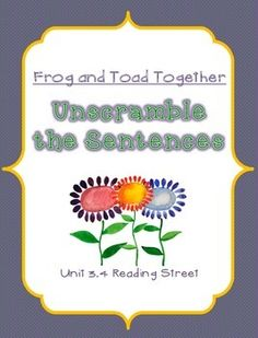 Fun center activity for 1st grade! Reading Street 3.4 Frog and Toad Together.