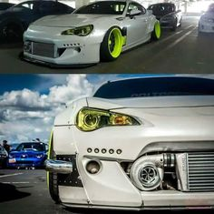 Ok again this was and still is my all time favorite car this is a BRZ,GT86and a frs there the same car  this car has a rocket bunny kit on it and a bumper mounted turbo.