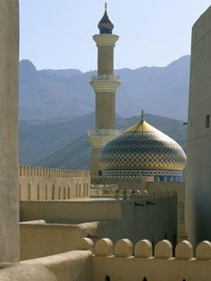 size: Photographic Print: The Mosque Seen from the Fort, Town of Nizwa, Sultanate of Oman, Middle East by Bruno Barbier : Travel Places To See, Places Ive Been, Islamic Architecture, Futuristic Architecture, Architecture Photo, Sultanate Of Oman, Beautiful Mosques, Islamic Images, Grand Mosque