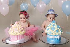 twin smash cake photos | Sailah and Kees ~ Cake smash Brisbane Photographer » Images by Carrie ...