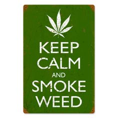 This Keep Calm and Smoke vintage metal sign measures 12 inches by 18 inches and weighs in at 2 lb(s). We hand make all of our vintage metal signs in the USA using heavy gauge american steel and a process known as sublimation, where the image is baked into a powder coating for a durable and long l...