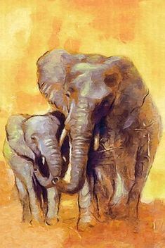 DeviantArt - The Largest Online Art Gallery and Community Baby Elephant Nursery, Elephant Love, Elephant Art, African Elephant, African Animals, Animal Paintings, Animal Drawings, Watercolor Animals, Watercolor Paintings