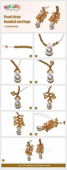 Pearl Drop Beaded Earrings – Nbeads