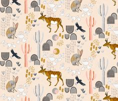 Sonoran Sunrise fabric by nouveau_bohemian on Spoonflower - custom fabric