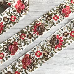 Your place to buy and sell all things handmade Indian Fabric, Sari Fabric, Sequin Fabric, Types Of Embroidery, Hand Embroidery, Embroidery Designs, Ribbon Art, Fabric Ribbon, Fabric Remnants